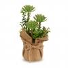 Planta Artificial con Flores en Saco Pequeño
