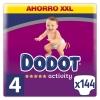 Pañales Dodot Activity XXL Talla 4 (9-14 kg) 144 ud.