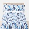 Funda Nórdica de Dos Piezas TEX Camuflaje Azul 105 cm Azul