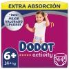 Pañales Dodot Activity Talla 6+ (+14 kg.) 44 ud.