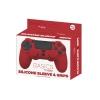 Silicona Basic + Grips rojo para PS4