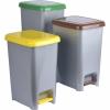 Set 3 Cubos de Basura Reciclaje con Pedal Plástico TABERSEO 15 l