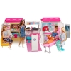 Barbie - Ambulancia Hospital 2 en 1, Accesorios Muñeca