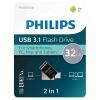 Memoria USB Philips Tipo C 32GB - Negro