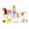 Barbie - Muñecas Barbie y Chelsea con Caballos y Accesorios