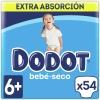Pañales Dodot bebé-seco extra absorción T6 (+14 Kg) 54 ud.