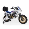 Injusa - Moto Honda Dakar 6V Africa Twin con Maleta Blanca