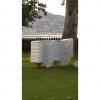 Tumbona Apilable 47x63x188 cm - Monobloc. Blanco