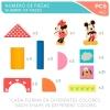 Woomax - Bote con 40 Bloques de Madera Disney Baby