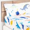 Saco Nórdico Desmontable Cuatro Piezas de Algodón TEX Cama 90 cm Azul