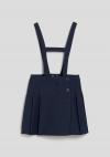 Falda con tirantes para uniforme de Niña (Tallas 2 a 6 años) TEX