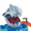 Hot Wheels - City Pista de Coches de Juguete Salto de Tiburón Color Shifter