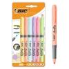 Marcadores punta ajustable BIC Highlighter Grip colores surtidos pastel 6 uds