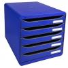 Módulo de 5 cajones azul Exacompta
