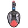 Máscara buceo de cara completa L/XL - Roja/negra