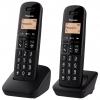 Teléfono Inalámbrico Panasonic KXTGB612SPB Dúo - Negro