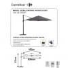 Parasol Lateral Giratorio de Aluminio y Acero 4 m. Gris Oscuro