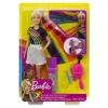 Barbie - Destellos de Arcoiris, Muñeca rubia con cabello extra largo con accesorios para peinar