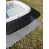 Protector de Suelo Antideslizante Nueve Piezas 8 mm de Espesor 50x50 cm - Gris