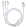 Cable NK Multiconectores 3 en 1 - Blanco
