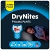 Ropa interior absorbente niño noche DryNites 4-7 años (17kg-30 kg.) 16 ud.
