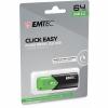 Memoria USB Emtec Click Easy 64GB - Verde