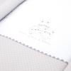 Minicuna de Madera con Coordinado Textil Disbebé