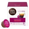 Café espresso intenso descafeinado en cápsulas Néscafe Dolce Gusto 16 ud.