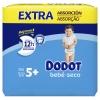 Pañales Dodot Bebé-Seco extra absorción T5+ (12-17 kg.) 58 ud.