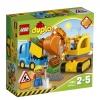 LEGO Duplo - Camión y Excavadora con Orugas