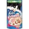 Pack de 10 Purina Felix Snacks para Gato Party Mix Crispies Salmón y Trucha 45g