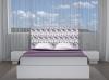 La Web Del Colchon -cabecero Tapizado Floral Para Cama De 210 (220 X 120 Cms) Blanco/morado