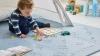 Lubabymats - Alfombra Puzzle Infantil Para Bebés De Foam (eva), Suelo Extra Acolchado. Medida: 161x161 Cm. Color Celeste