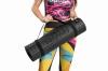 Bootymats - Colchoneta Fitness Multifunción Para Todo Tipo De Entrenamiento: Fitness, Pilates, Abdominales, Estiramientos... Medidas: 160 X 60 Cm. Grosor: 9 Mm. Negro