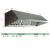 Campana Mural Ic Exclusive Con Ventilador  7/7 1/5cv 1000x800x680 Filtros Incluidos