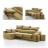 Sofa Chaise Longue Ecologico Tanuk Loki Izquierda 4 Plazas Mostaza
