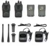 2 X Walkie Talkie Uhf 400-470mhz 5w 16ch Estación De Radio Vigilancia Del Transceptor