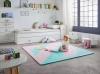 Lubabymats - Alfombra Puzzle Infantil Para Bebés De Foam (eva), Suelo Extra Acolchado. Medida: 161x161 Cm. Color Rosa Y Mint
