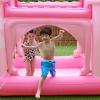 Teamson Kids Piscina Inflable/pelopincho Castillo Rosa Para Niños Tk-48271p-uk/e