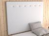 La Web Del Colchon -cabecero Tapizado Macedonia Big Para Cama De 105 (115 X 165 Cms) Blanco