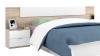 Conjunto Cabezal Y 2 Mesillas De Noche En Color Roble Canadian Y Blanco 95x247x38 Cm