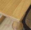 Mesa Salón Comedor Madera Maciza Color Roble Patas Tallado Decorativo 140x90 Cm