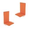Pack 2 Cojines Para Sillones De Jardín Reclinables Color Naranja   Tamaño 114x48x5 Cm   Repelente Al Agua   Desenfundable