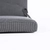 Pack 2 Cojines De Exterior Para Sillones Reclinables Color Lux Antracita | Tamaño 114x48x5 Cm | Repelente Al Agua | Desenfundable