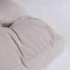 Pack 2 Cojines Asiento Para Palet | Tamaño: 80x120x16 Cm | Color Crema | Repelente Al Agua
