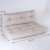 Pack 2 Cojines Para Palets | Cojín De Asiento 80x120x16 Cm + Cojín Respaldo 42x120x16 Cm | Color Crema | Repelente Al Agua