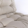Pack 4 Cojines Para Palets | Cojín De Asiento 80x120x16 Cm + Cojín Respaldo 42x120x16 Cm | Color Crema | Repelente Al Agua