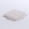 Pack 2 Cojines Para Sillas De Jardín Estándar Olefin Color Crudo   Tamaño 44x44x5 Cm   No Pierde Color   Desenfundable