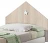 Muebles Dormitorio Infantil Shine Cabezal Cama Y Mesita Noche Color Roble Estrella Blanca
