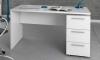 Mesa De Despacho 3 Cajones Mesa Escritorio Color Blanco Artik 74x138x60